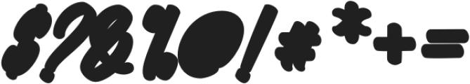 Megatype Script Extrude Regular otf (400) Font OTHER CHARS