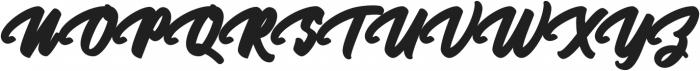 Megatype Script Extrude Regular otf (400) Font UPPERCASE