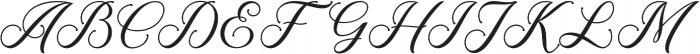 Meighan Script Regular otf (400) Font UPPERCASE