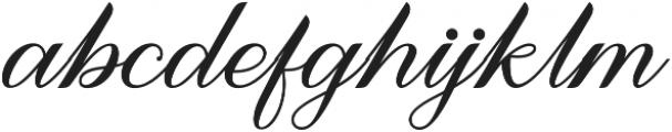 Meighan Script Regular otf (400) Font LOWERCASE