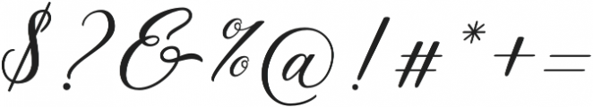 Meilina Fancy otf (400) Font OTHER CHARS