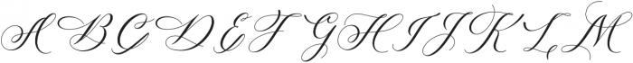 Melanie Script Regular otf (400) Font UPPERCASE