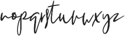 Melanott otf (400) Font LOWERCASE
