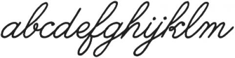 Melany Lane otf (400) Font LOWERCASE