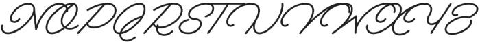 Melay Script otf (400) Font UPPERCASE