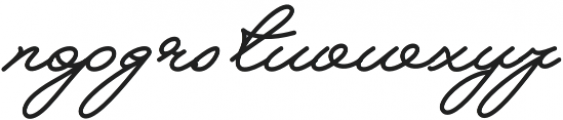 Melay Script otf (400) Font LOWERCASE