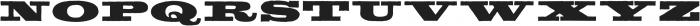 Meld Bold Extended ttf (700) Font UPPERCASE