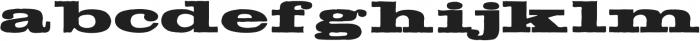 Meld Bold Extended ttf (700) Font LOWERCASE