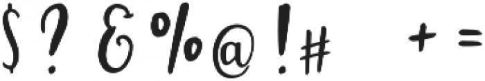 Melissand otf (400) Font OTHER CHARS