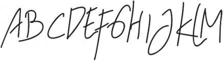 Melitta  jeffry otf (400) Font UPPERCASE
