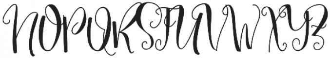 Mellany Alt otf (400) Font UPPERCASE