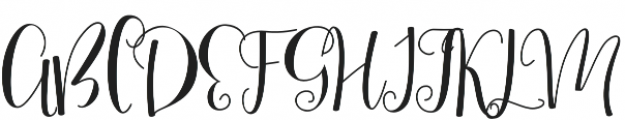 Mellany End Swashes otf (400) Font UPPERCASE