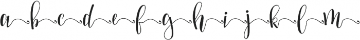 Mellany End Swashes otf (400) Font LOWERCASE