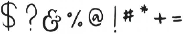 Melody & Lyrics Mono Script otf (400) Font OTHER CHARS