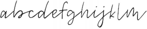 Melody & Lyrics Mono Script otf (400) Font LOWERCASE