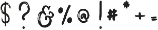 Melody & Lyrics Script otf (400) Font OTHER CHARS
