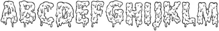 Melt Line Regular otf (400) Font UPPERCASE