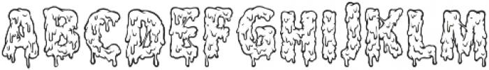 Melt Line Regular otf (400) Font LOWERCASE