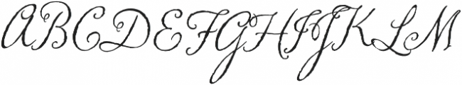 Memoir Regular otf (400) Font UPPERCASE