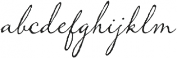 Memoir Regular otf (400) Font LOWERCASE