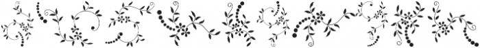 Menina Poderosa Ornaments Regular otf (400) Font OTHER CHARS