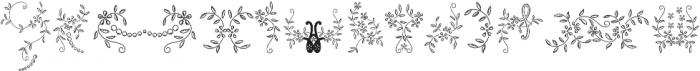 Menina Poderosa Ornaments Regular otf (400) Font LOWERCASE