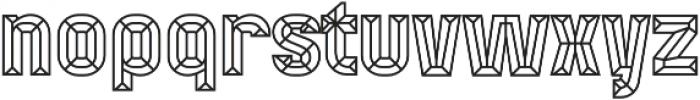 Mensrea Bevel otf (400) Font LOWERCASE