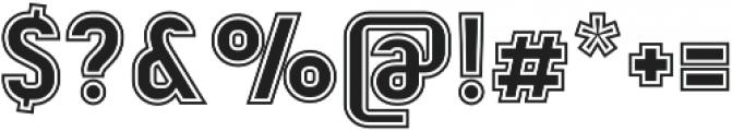 Mensrea College otf (400) Font OTHER CHARS