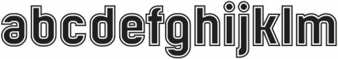 Mensrea College otf (400) Font LOWERCASE