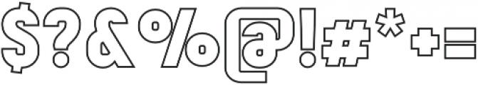 Mensrea Contour otf (400) Font OTHER CHARS