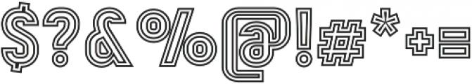 Mensrea Duoline otf (400) Font OTHER CHARS