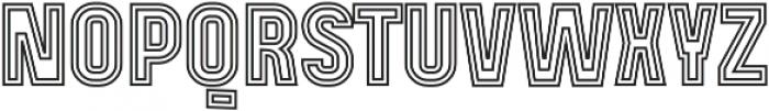 Mensrea Duoline otf (400) Font UPPERCASE