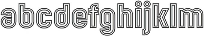 Mensrea Duoline otf (400) Font LOWERCASE