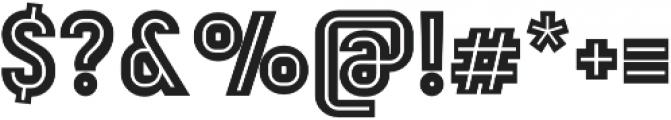 Mensrea Inline otf (400) Font OTHER CHARS