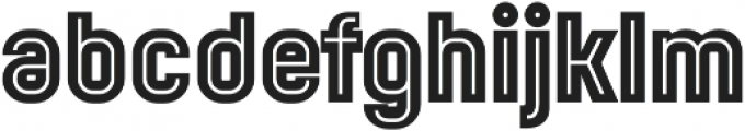 Mensrea Inline otf (400) Font LOWERCASE