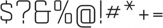Mensura Light Regular otf (300) Font OTHER CHARS