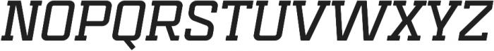 Mensura Slab Bold Italic Regular otf (700) Font UPPERCASE