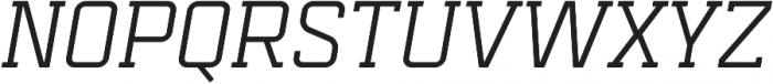 Mensura Slab Italic Regular otf (400) Font UPPERCASE