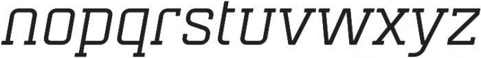 Mensura Slab Italic Regular otf (400) Font LOWERCASE