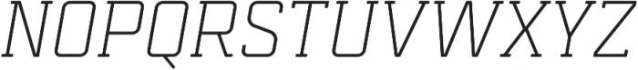 Mensura Slab Light Italic Regular otf (300) Font UPPERCASE