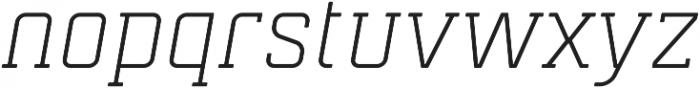 Mensura Slab Light Italic Regular otf (300) Font LOWERCASE