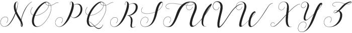 Menttion Script otf (400) Font UPPERCASE