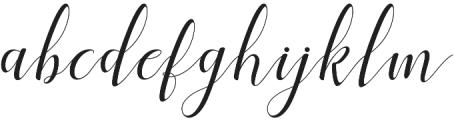Menttion Script otf (400) Font LOWERCASE