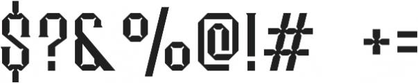 Merak Light Regular otf (300) Font OTHER CHARS