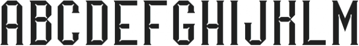 Merak Light Regular otf (300) Font UPPERCASE