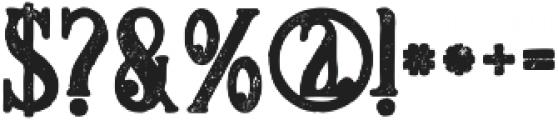 Meravin Bold Grunge otf (700) Font OTHER CHARS