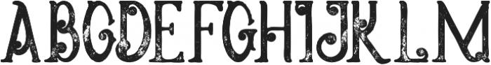 Meravin Bold Grunge otf (700) Font UPPERCASE