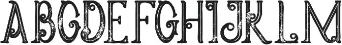 Meravin Bold Inline Grunge otf (700) Font UPPERCASE