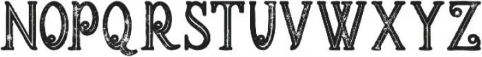 Meravin Bold Inline Grunge otf (700) Font LOWERCASE