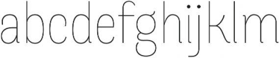Merced Light otf (300) Font LOWERCASE